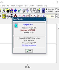 نسخه پرمیوم برنامه الکتروشیمی Zsim Win 3.21